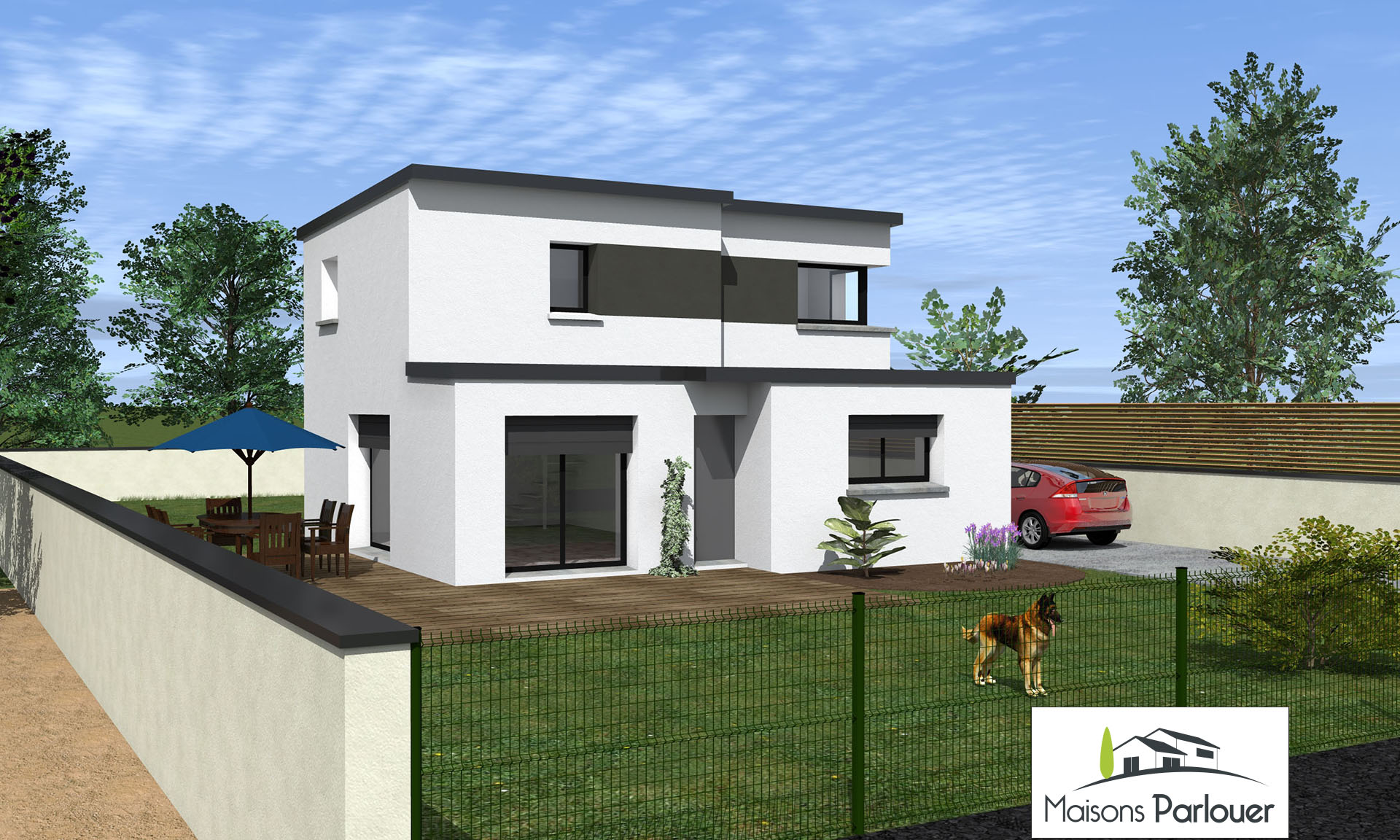 Projets nos maisons for Maison a etage moderne