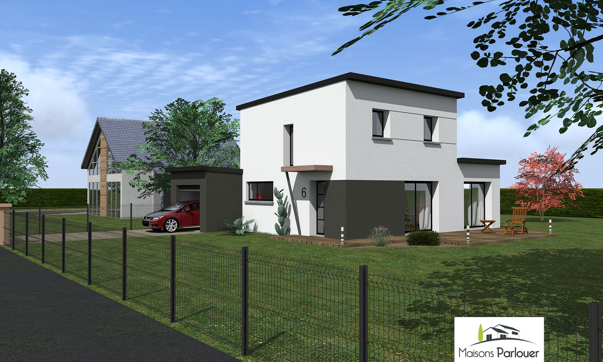 Maison etage 100m2 stunning plan maison pas cher with for Maison 100m2 etage
