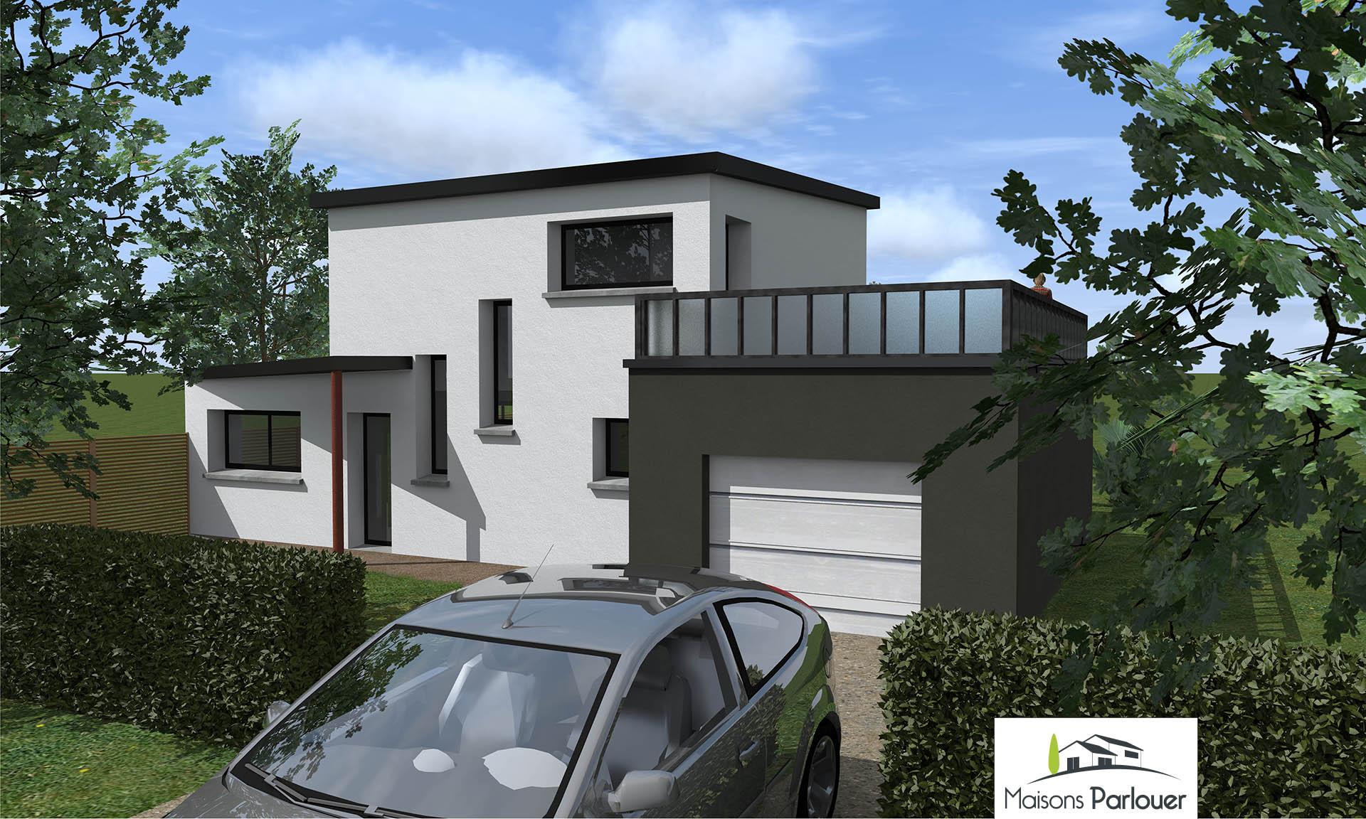 Projets d 39 une superficie inf rieure 100m2 non cat goris for Terrasse etage maison