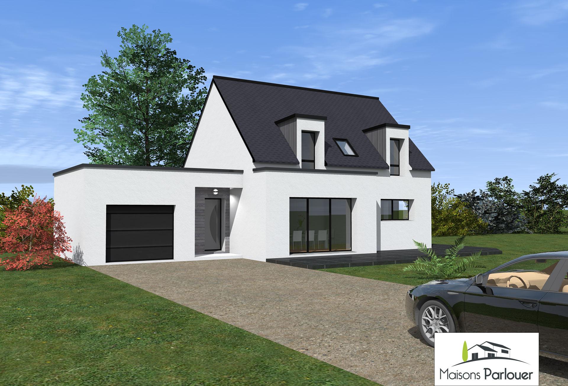 Maison avec garage toit plat ventana blog for Maison toit plat etage