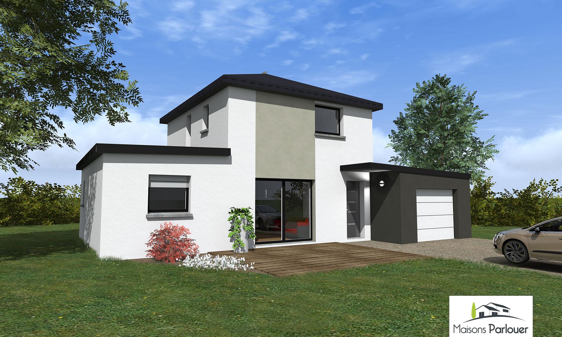 maison contemporaine 100m2 ventana blog. Black Bedroom Furniture Sets. Home Design Ideas
